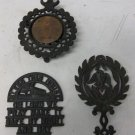 3 Vtg Cast Iron Trivets, Hot Plates, Wilton, Hotrivet Model 101, Bless This Home