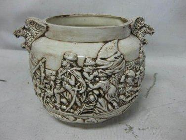 Vtg Sculp & Farkas KY Mold, Washington Crossing Delaware 1776 Pottery Planter