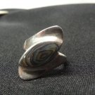 Vintage Sterling Silver Abalone Ring, Women's Size 8