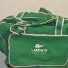 Gently Used LACOSTE PARFUMS Green, White Sports Duffel, Gym Bag