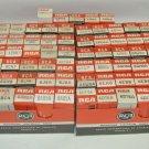 Lot 65 NOS RCA Miniature Electron Vacuum Tubes, Assorted Models, Original Boxes