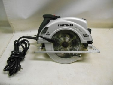 "Craftsman 7 1/4"" 14 Amp Corded Circular Saw 10870 Laser Trac Tool Only Excellent"