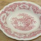 Vintage John Maddock & Sons BOMBAY, Pink Transferware Round Serving Bowl, Dish