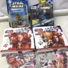 4 New STAR WARS, Kit Fisto Action Figure, Panoramic Jigsaw Puzzles, Clone DVD