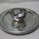 Vintage William A. Roger Silver Plate Round Chip & Dip Serving Platter, Tray