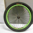 "Rare Alexrims Stolen Bike Co Roulette Wheel 16"" Green Rim w/ GLH 20x2.25 110 PSI"