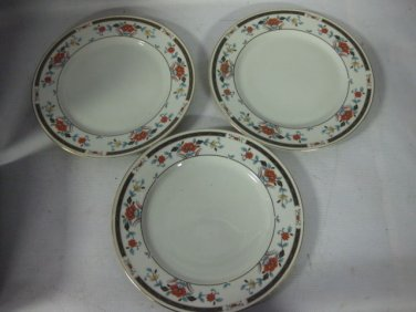 3 SANGO DINNER PLATES Fine China Regal Collection KYOTO, 1037, Japan