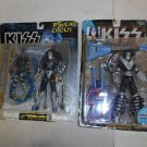 2 NIB Kiss Ace Frehley Action Figures, Psycho Circus, McFarlane Toys, 1997, 1998