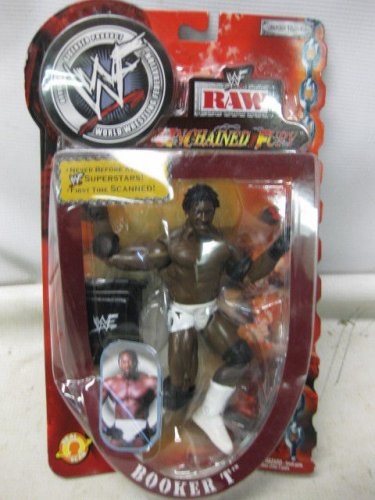 NEW WWF Raw, World Wrestling Federation BOOKER T Action Figure, Unchained Fury