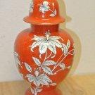 Vintage LENWILE CHINA Ardalt Japan, Lidden URN Orange Floral Hand Painted