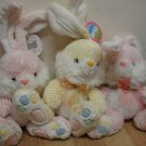 Lot 3 NWT EASTER BUNNIES, RABBITS, Plush, Stuffed Toys