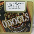 Used O'DOULS Non Alcoholic Beer, Two Sided BEER SIGN, Man Cave, Bar, Restaurant