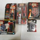 Star Wars Episode 1 Darth Maul Lot, Collectors Watch, Puzzles, Figures, Eraser..