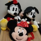 Lot 4 Genuine Walt Disney Plush, Minnie & Mickey Mouse, Minnie Pocketbook