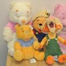 Lot 5 New Disney Store WINNIE THE POOH, Tigger The Tiger Plush Stuffed Dolls