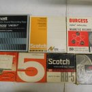 Lot 7 Vintage Magnetic Recording Tape Reels in Boxes Used & Blank Scotch Maxell