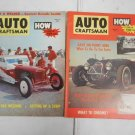 Lot 2 Vintage 1957 Auto Craftsman Auto Magazines April & June in Great Shape