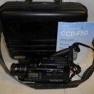 Vintage Sony Handycam Video8 CCD-F50 Video Camera Bundle Hard Case Parts/Repair