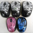 Lot 5 Gently Used Logitech M305 Wireless USB Optical Mouse Mice Art Designs