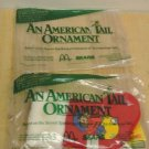 NIP Retro 1986 McDonalds, Sears Fieval An American Tail Ornament Red Stocking