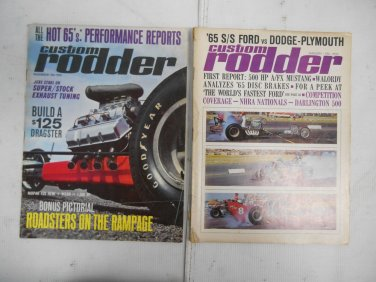 Lot 2 Vintage 1964 Custom Rodder Auto Magazines January & November