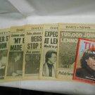 Lot 5 Vintage Daily News NY Newspapers Ft John Lennon, Dec 10, 11, 12, 14 & 15