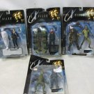 Lot 4 New 1998 X-FILES Series 1 Action Figures, Scully, Mulder, Attack Alien