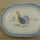 Used Pfaltzgraff Sunnydale Stoneware Oval Serving 9 x 12 Platter, Rooster