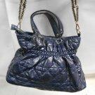 Gently Used MMS Studio Blue PU Leather Women's Hobo Style Shoulder Handbag