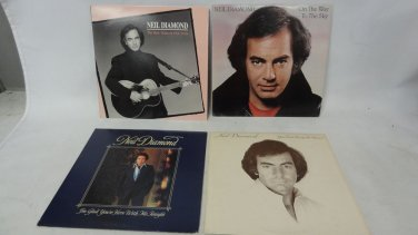 Lot of 4 Vintage Neil Diamond Records, You Don't Bring Me Flowers