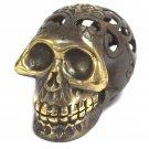"Vintage-style Brass Skull - 7cm (3"")"