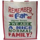 A Nice Normal Family Jute Shopping Bag