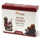 Aromatica Backflow Incense Cones - Seven Chakra