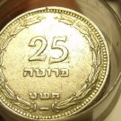 RARE ROLL(50) ISRAEL 1949 25 PRUTA~WITH AND WITHOUT PEARLS~NEVER ON E-BAY~FR/SHI
