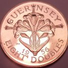 Extremely Rare Huge Proof Guernsey 1956 8 Doubles~2,100 Minted~Awesome~Free Ship