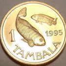 Gem Unc Malawi 1995 1 Tambala~Two Talapia Fish~Awesome~Free Shipping