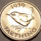Rare Incredible Gem Unc Great Britain 1939 Farthing~Fantastic~Free Shipping