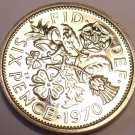 Gem Proof Great Britain 1970 6-Pence~Last Year~Great For Weddings~Free Shipping