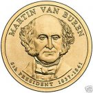 2008-P MARTAIN VAN BUREN UNC PRESIDENTIAL DOLLAR~F/S~