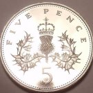 1980 GREAT BRITAIN ROYAL MINT PROOF 5 PENCE~FREE SHIP~