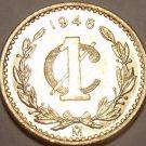 Rare Gem Unc Mexico 1946 Centavo~We Have Rare Mexican Coins~Awesome~Free Ship