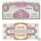 BRITISH ARM FORCES 1 POUND NOTE 4TH SERIES UNC~FR/SHIP~