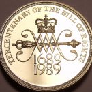 Cameo Proof Great Britain 1989 2 Pounds~Tercentenary Of The Bill Of Rights~Fr/Sh