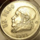 ROLL (20 COINS) OF LARGE MEXICAN PESOS MIXED DATES~1970-1983~FREE SHIPPING~