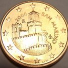 Gem Unc San Marino 2006 5 Euro Cents~Super Castle~Minted In Rome~Free Shipping