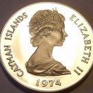 PROOF CAYMAN ISLANDS 1974 25 CENTS~WE HAVE PROOFS~FREE SHIPPING~ONLY 30K MINTED~