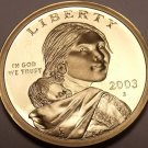United States 2003-S Sacagawea Cameo Proof Dollar~See R Proofs~Free Shipping