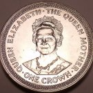 Massive Gem Unc Isle Of Man 1985 Crown~The Queen Mothers 85th Birthday~Free Ship