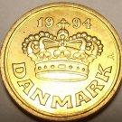 GEM UNC DENMARK 1994 25 ORE~FREE SHIP~GREAT PRICE~