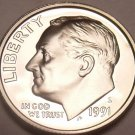United States 1991-S Camro Proof Roosevelt Dime~Free Shipping